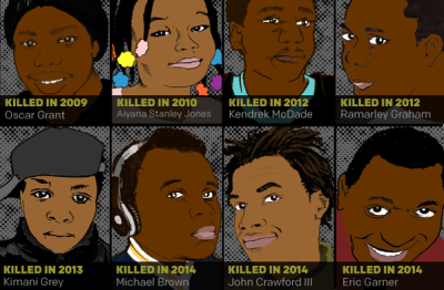 Photo Credit - @AshleiMcnight Pictures of African-American Children and Adults killed in interactions with police since 2010