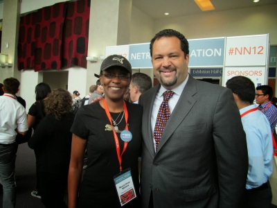 Photo Credit - ROJS Media, LLC IURL Host/Executive Producer Monica RW and Past President of the NAACP Ben Jealous